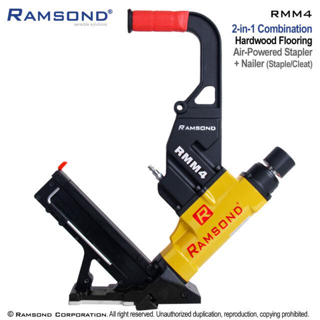 Ramsond Rmm4 2 In 1 Air Hardwood Flooring Cleat Nailer And Stapler