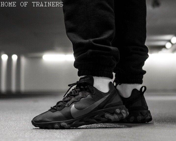 Nike React Element 55 Triple Triple Triple Nere Uomo Scarpe Sportive | A Primo Posto Tra Prodotti Simili  | Gentiluomo/Signora Scarpa  21150f