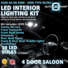 AUDI A4 B6 SALOON 00-06 LED INTERIOR UPGRADE COMPLETE KIT SET BULB XENON WHITE