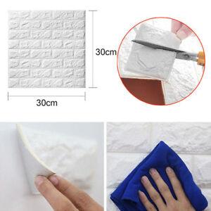 3D-Panel-Wall-Sticker-PE-Foam-Self-adhesive-Home-Bedroom-30x30cm
