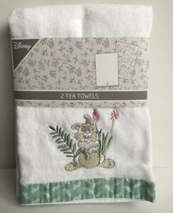 BNWT THUMPER TEA TOWEL x 2 NEW DESIGN BAMBI PRIMARK DISNEY