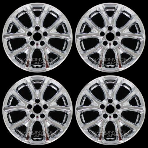"Set of 4 2014-2017 Jeep Cherokee CHROME 17/"" Wheel Skins Hub Caps Full Rim Covers"