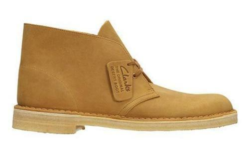 Clarks Originals Desert Boot Men's Mustard Leather 26108405