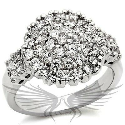 Brilliant AAA Grade Cubic Zircon CZ Fashion Cocktail Ring Sizes 9 10 9x025
