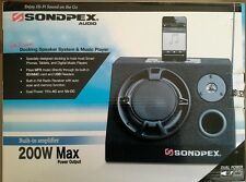SONDPEX AUDIO 200W DOCKING SPEAKER SYSTEM/FM/MP3 MUSIC PLAYER 110V 12V AMPLIFIER
