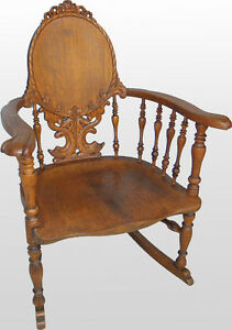 Brilliant Details About Fancy Victorian Antique Carved Oak Rocking Chair Rocker Beatyapartments Chair Design Images Beatyapartmentscom