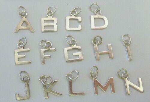 Petit Plat Mince Long de 12 mm Argent Sterling Alphabet Lettre Initiale de charme!