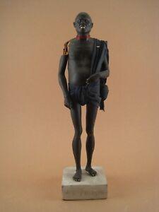 Statue-Santon-Sujet-Terre-Cuite-Polychrome-ECOLE-ORIENTALISTE-fin-XIX-Maure