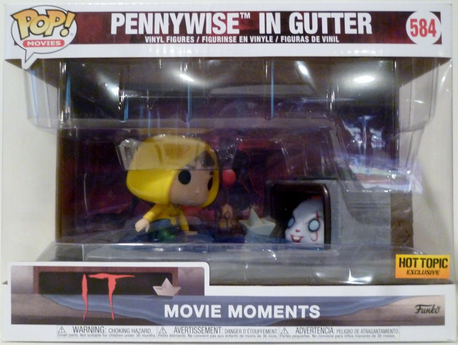 PENNYWISE IN  GUTTER IT Pop Movie MoHommests Vinyl Figure Box Set 584 Hot Topic 2018  marque célèbre