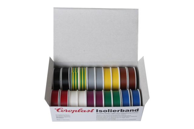 Coroplast Box VDE Isoband Elektriker Isolierband Klebeband 15mm x 10 m Bunt