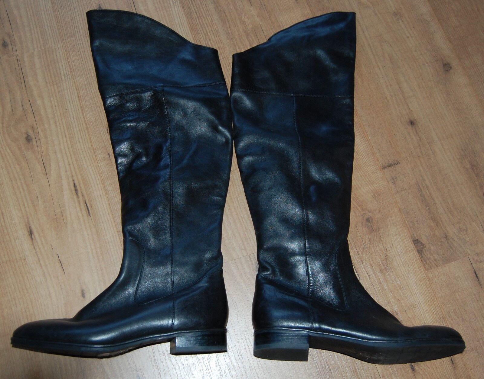 Via Spiga Kailey cuir noir zip sur bottes cavalières hautes Taille 8.5