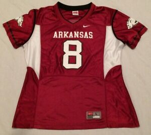 size 40 2c621 cec91 Details about Pre-owned Team Nike Arkansas Razorbacks Football Jersey Youth  Size Large (12-14)