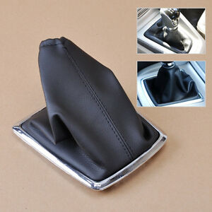New-Black-PU-Leather-Gear-Boot-Gaiter-Cover-For-2005-2012-Ford-Focus