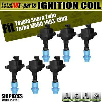 6x Ignition Coils Pack for Toyota Supra 1993-1998 3.0L JZA80 Twin Turbo UF-386