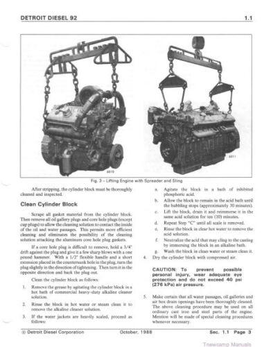 Equipment Manuals & Books Detroit Diesel v-92 Series 6v92 8v92 ...