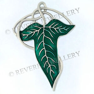 SILVER-VEINS-Elven-Leaf-Brooch-Pin-Badge-Hobbit-LOTR-Lord-of-The-Rings-Cape