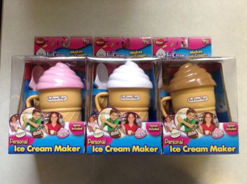 Brand New Lot Of 3 Ice Cream Magic Personal Ice Cream Maker As Seen On TV
