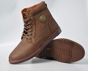 FIRETRAP Boots Luca Gr. 44 Stiefel Leder Look Herren Schuhe 1/18 M2 R4