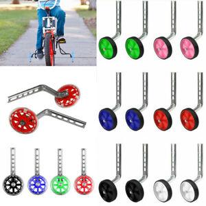 "Kids Bicycle Training Wheels Bike Stabilisers Safety 12-20/"" Inch JE"