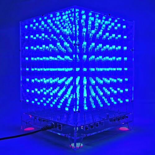 3D 8x8x8 Electronic LED DIY Kits APP Light Cube WIFI Wireless Light NO welded