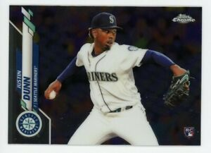 2020-Topps-Chrome-136-JUSTIN-DUNN-Seattle-Mariners-Real-Logo-ROOKIE-CARD-RC