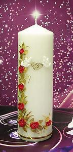 Handmade Hochzeitkerze Hochzeit Kerze Tischdekor incl. Beschriftung S-06 Bord-G
