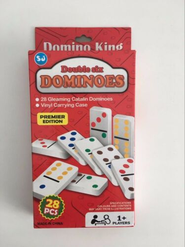 Domino King Double Six 28 Gleaming Catalin Dominoes Premier Edition Vinyl Case