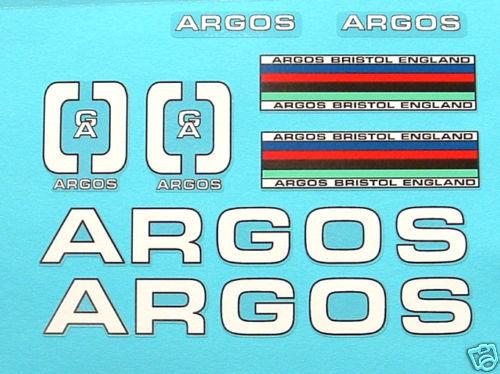 Argos Decal Set para Campagnolo Vintage Bike británico