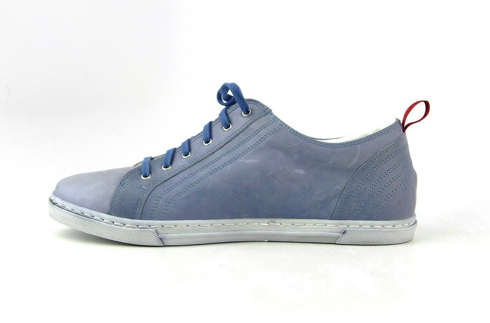 88dd3991b6311 ... KITON HANDMADE SNEAKERS SHOES BLUE 100% LEATHER SIZE SIZE SIZE 7 MADE  IN ITALY 40EU ...