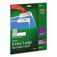 Avery X-large 1/3-cut File Folder Labels W/trueblock 15/16 X 3 7/16 White 450 on sale