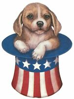 Patriotic Puppy Dog In Uncle Sam Top Hat Shirt, Small - 5x, 4th July T-shirt