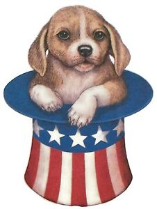 d8287b5e285 Image is loading Patriotic-Puppy-Dog-in-Uncle-Sam-Top-Hat-