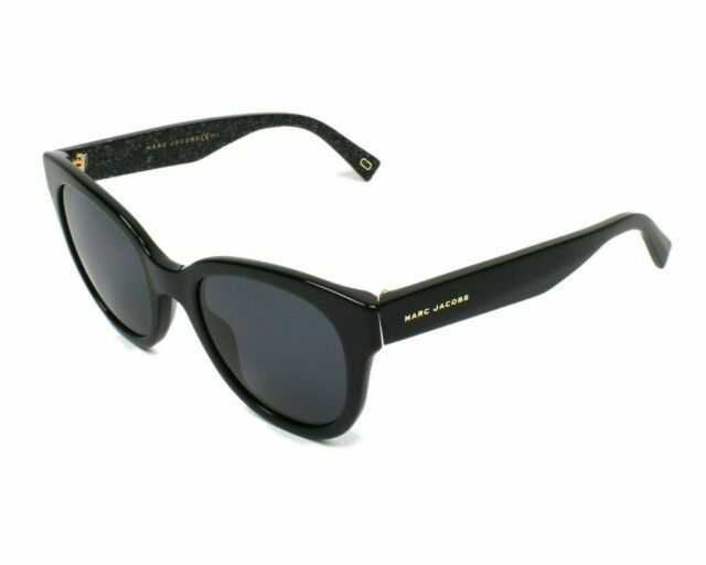 271bf5793306 Marc Jacobs Grey MARC231S Polarized Sunglasses 0NS8 50mm Black Glitter  AUTHENTIC