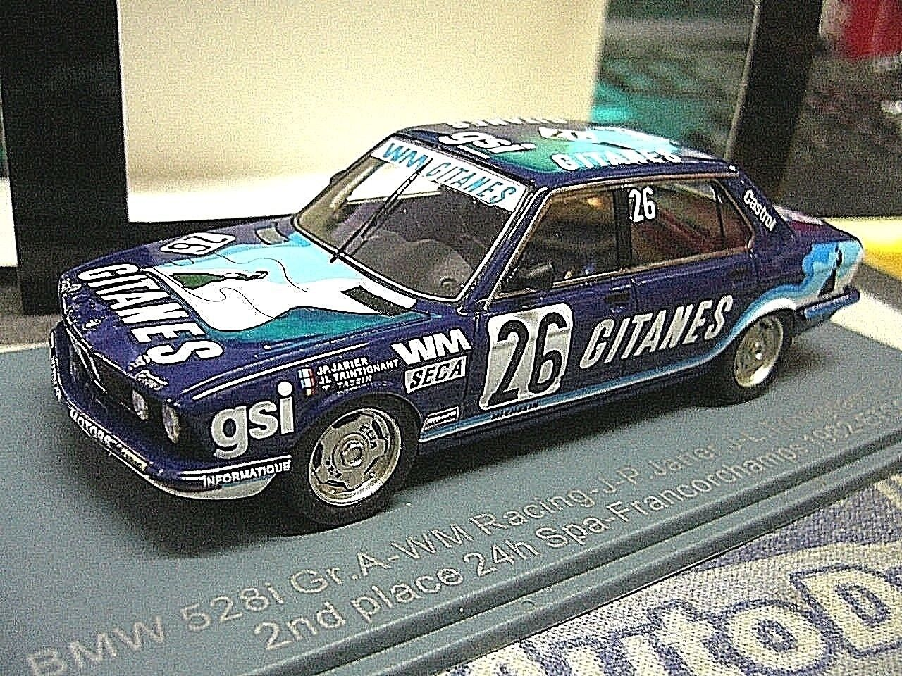 BMW 5er e28 528i 24 H Spa 1982    26 GITANE S ETCC Jarier TASSIN NEO Resin SP 1 43 86575c