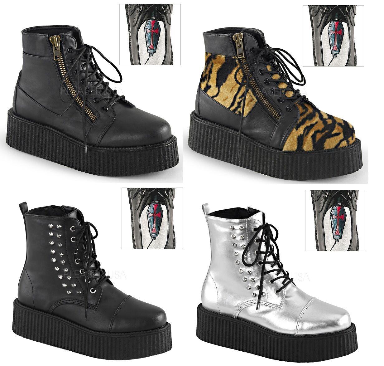 Demonia men's V-CREEPER-565 571 573 Vegan Boots