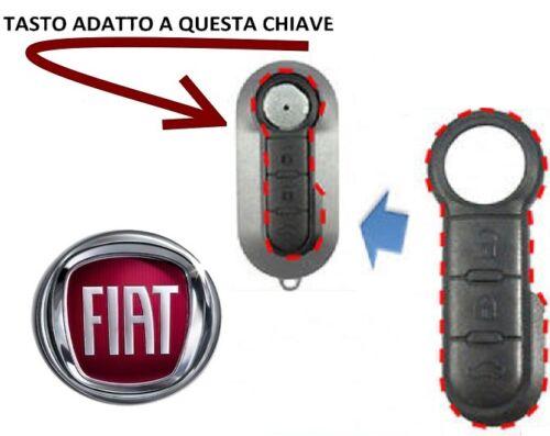 Gommino tasto COVER CHIAVE TELECOMANDO CHIAVE FIAT 500 LANCIA Y SPED VELOCEEEE