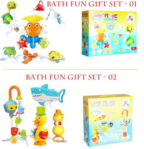 Kids Bath Toys for Toddlers with Playful Animals Squirt Water Boys Girls Baby UK