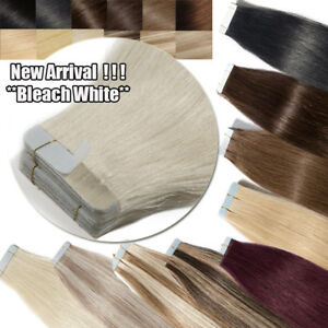 60PCS-Russian-Skin-Remy-Tape-Glue-in-Real-Human-Hair-Extensions-Multi-Color-USPS