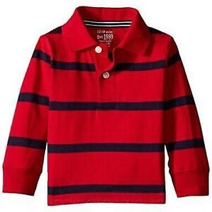 MSD-Original-Children-039-s-Place-Red-amp-Navy-Stripes-Sport-039-s-Shirt