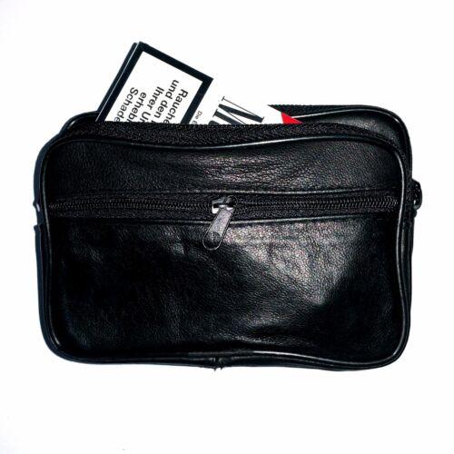 Leder Zigarettentasche Zigarettenetui Etui Gürteltasche Bauchtasche Handy Tasche