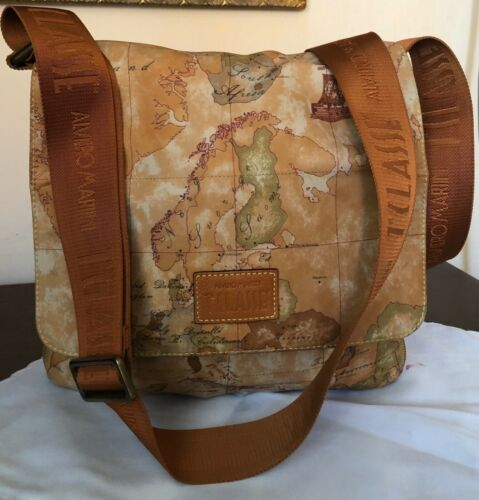 Alviero Martini 1 Classe Map Print Shoulder Bag me