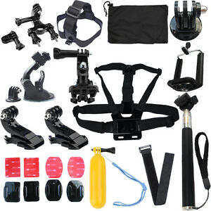Head Strap Mount for GoPro 1 2 3 4 Camera Monopod Accessories Floating Combo Kit