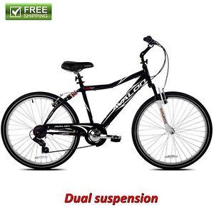 NEXT-COMFORT-BIKE-MEN-039-S-BLACK-26-Full-Suspension-Cruiser-Bicycle-Shimano-NEW