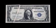 1935 $1 Silver certificate Error Note Large Gutter Fold