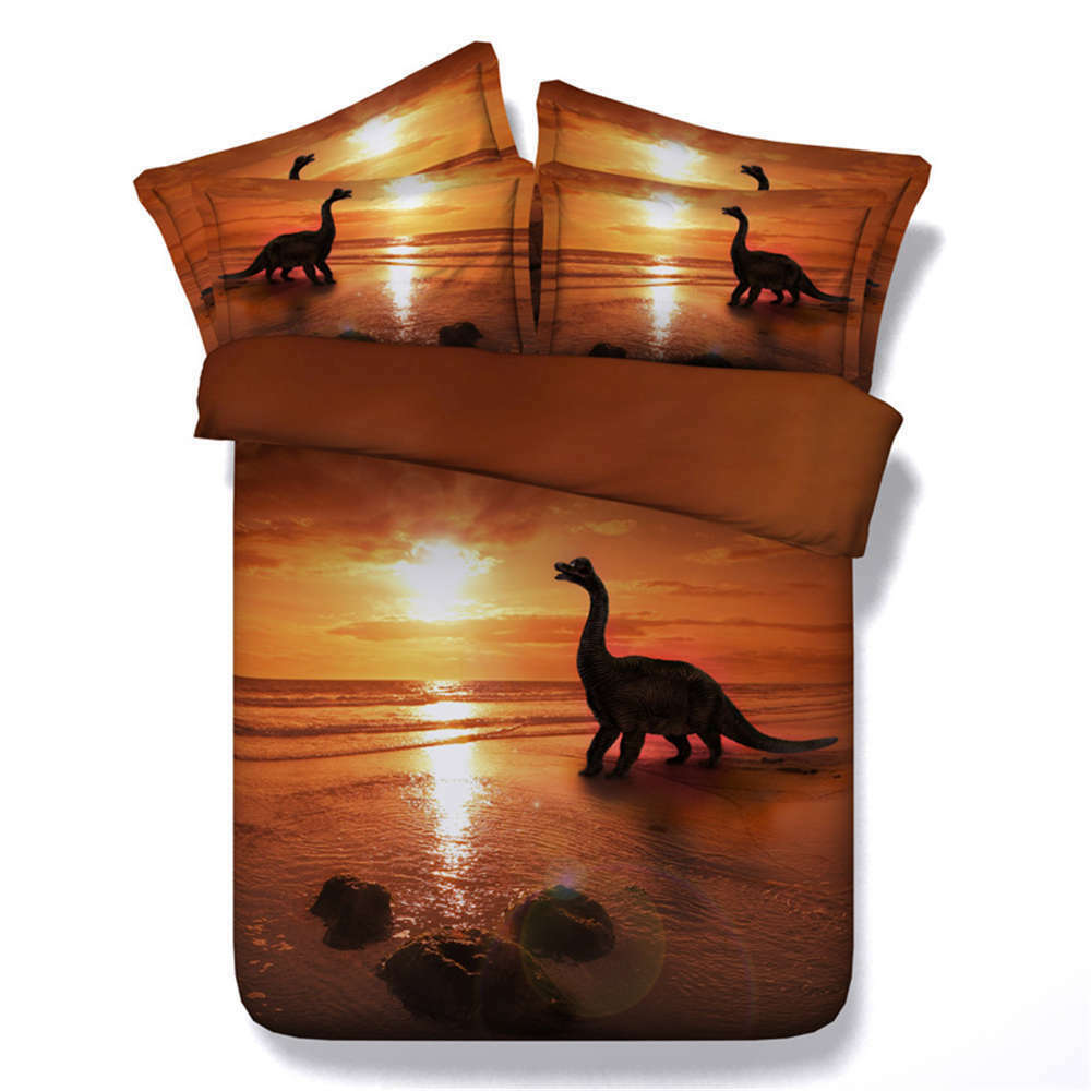 Dinosaurs Water 3D Printing Duvet Quilt Doona Covers Pillow Case Bedding Sets
