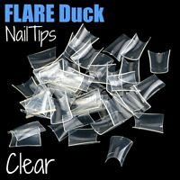Flare Duck Clear Nail Tips Lot Fast Ship You Choose Qty