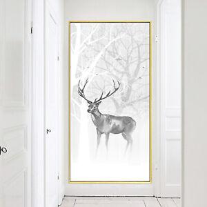 Abstract Elk Oil Paint Silk Canvas Poster Nordic Modern Art Decor Unframed A768