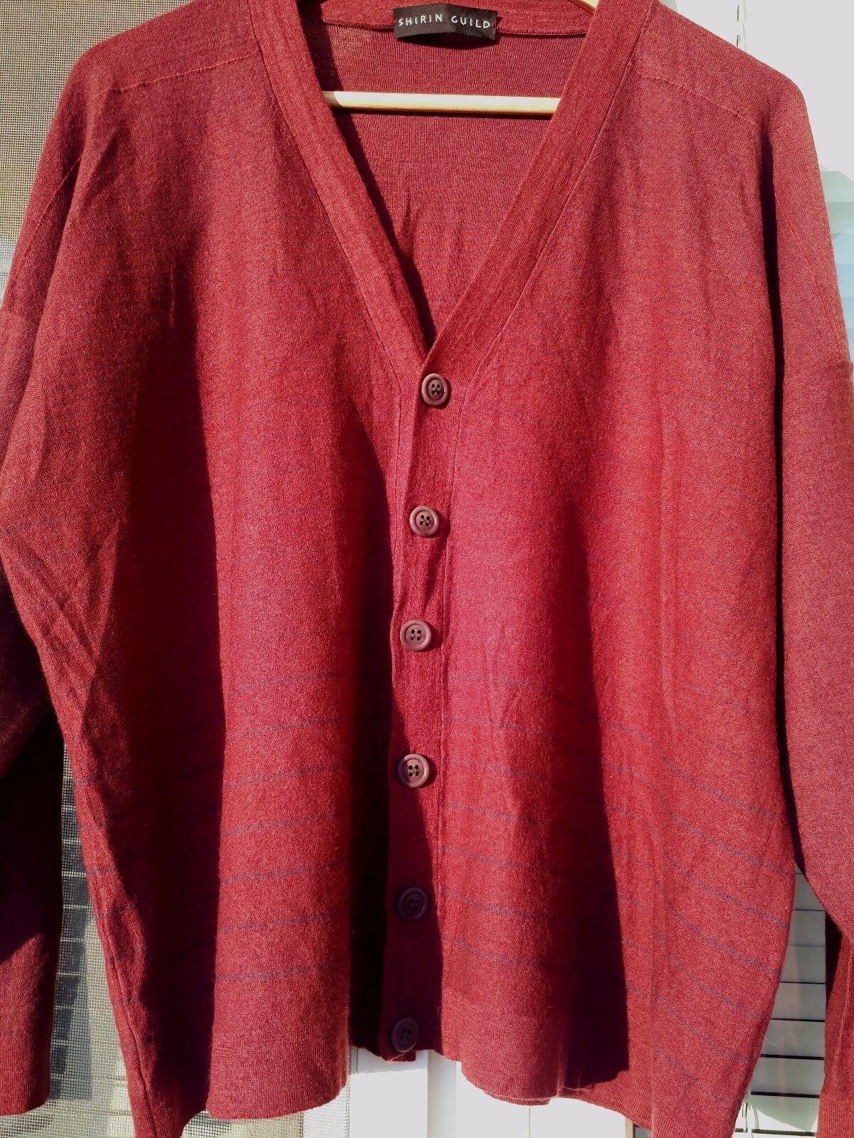 Shirin Guild Tricot Veste Pull Pull 100% Merino Superfine Scotland Laine Wool