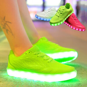 da59b155b85f Candy Color Women LED Light Up Casual Shoes Cool Sportswear USB ...