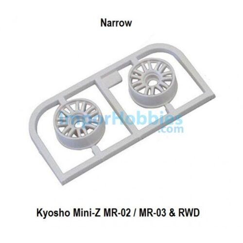Llanta estrecha blanca Offset 2.0 Kyosho Mini-Z MR-03 2 Uds. RWD MZH131W-N20
